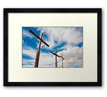 Crosses Stand in the Desert  Framed Print