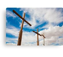 Crosses Stand in the Desert  Canvas Print