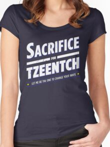 Sacrifice for Tzeentch - Damaged Women's Fitted Scoop T-Shirt