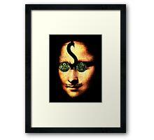 monalisa ill minutia Framed Print