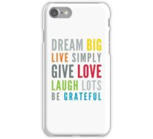 LIFE MANTRA positive cool typography bright colors iPhone Case/Skin