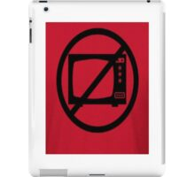 NO-TV iPad Case/Skin