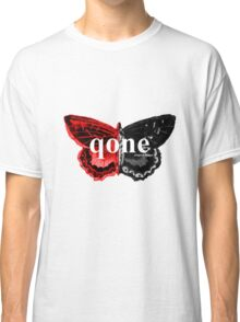 Animal Logo Series - qone - Red on Black Butterfly Classic T-Shirt