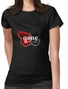 Animal Logo Series - qone - Red on Black Butterfly Womens Fitted T-Shirt