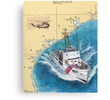USCG RELIANCE TX Nautical Chart Map Cathy Peek Canvas Print