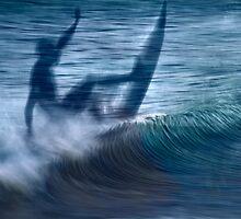Blue wave by Geraldine Lefoe