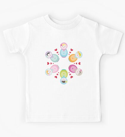 Russian Dolls - Mandala Kids Tee