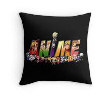 Anime world Throw Pillow