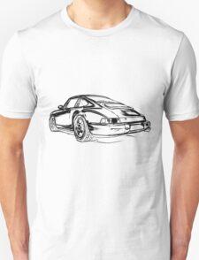Porsche 964 RS Rear black Unisex T-Shirt