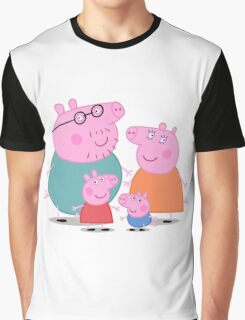 Peppa Pig Family Portrait  Graphic T-Shirt