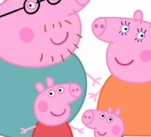 Peppa Pig Family Portrait  Sticker