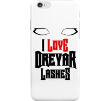 I love Dreyar Lashes Red iPhone Case/Skin