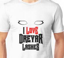 I love Dreyar Lashes Red Unisex T-Shirt