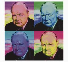 Winston Churchill - Pop Art by Chunga