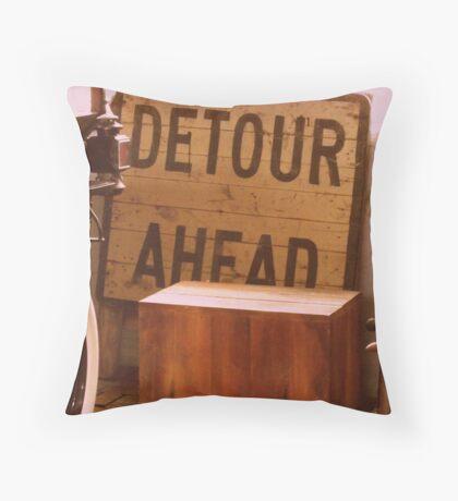 Detour Ahead Throw Pillow
