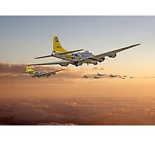 B17 - 486th - Day is Done Photographic Print