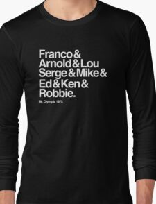 The Names of Mr Olympia 1975 Long Sleeve T-Shirt