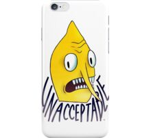 "Lemongrab ""Unacceptable"" || ScarlettDesigns iPhone Case/Skin"