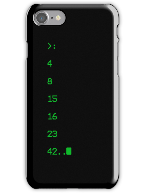 lost numbers iphone case by jmakin