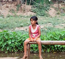 Kayan Child, Huai Seau Tao, Thailand by Kerry Dunstone