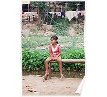 Kayan Child, Huai Seau Tao, Thailand Poster