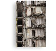 destroyed building Canvas Print