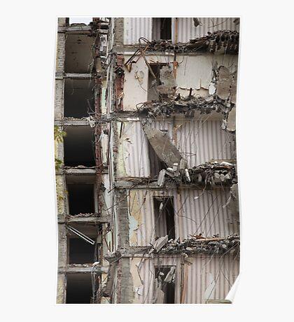 destroyed building Poster