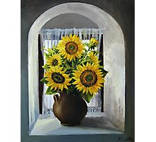 Sunflowers on The Window Photographic Print