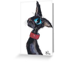 HEART ON HER COLLAR CAT Greeting Card