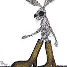 HARE IN BOOTS by Hares & Critters