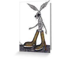 HARE IN BOOTS Greeting Card