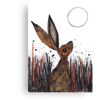 MOONGAZING HARE Canvas Print