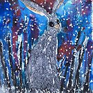 SNOW HARE by Hares & Critters