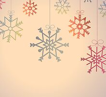 Hanging colourful snowflakes by Ana Marques