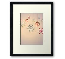 Hanging colourful snowflakes Framed Print