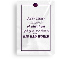 Big, bad world Canvas Print