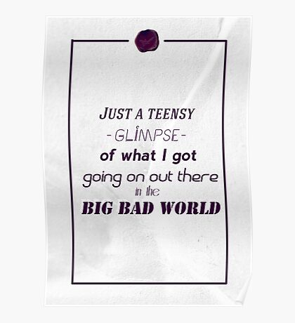 Big, bad world Poster