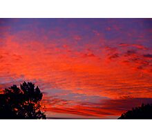 Vermillion Sky Photographic Print