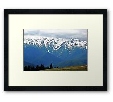 Olympic Mountains at Hurricane Ridge Framed Print