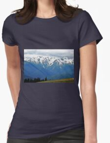 Olympic Mountains at Hurricane Ridge Womens Fitted T-Shirt