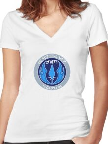 Jedi Fighter Corps - Star Wars Veteran Series Women's Fitted V-Neck T-Shirt