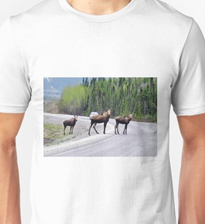 Magnificent Moose on Alaska Highway Unisex T-Shirt