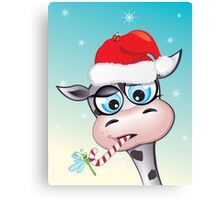 Critterz - cow Christmas spirit Canvas Print