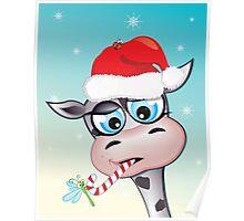 Critterz - cow Christmas spirit Poster