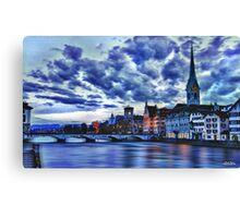 Zurich Blue Canvas Print
