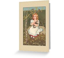 Girl with Cat General Greetings Greeting Card