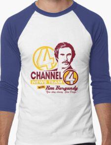 Channel 4 News Team with Ron Burgundy! No Halftone! Men's Baseball ¾ T-Shirt