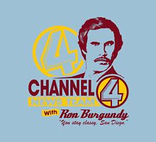 Channel 4 News Team with Ron Burgundy! No Halftone! Unisex T-Shirt