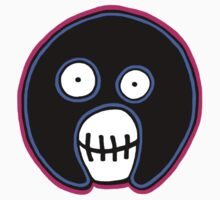 The Mighty Boosh –  Blue & Pink Mask Baby Tee