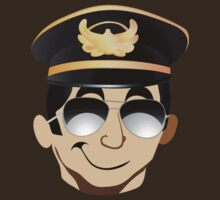 Sexy funny cool pilot in uniform hat by mikath